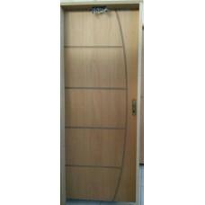 Porta de madeira friso com batente caixa14, fechadura, dobradiça completa e montada
